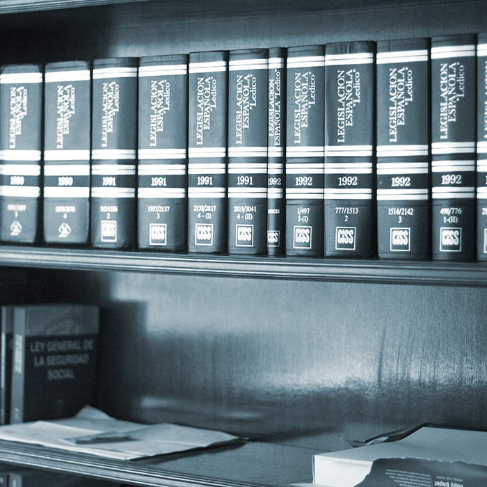 Legal Books In Lawyers Office.